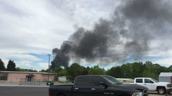 A Ulocal viewer sent in this picture of the black smoke cloud coming from the fire.