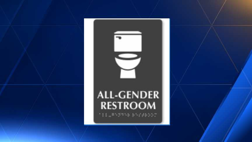 "Dozens of Asheville businesses are requesting signs that read ""All-Gender Restroom."""