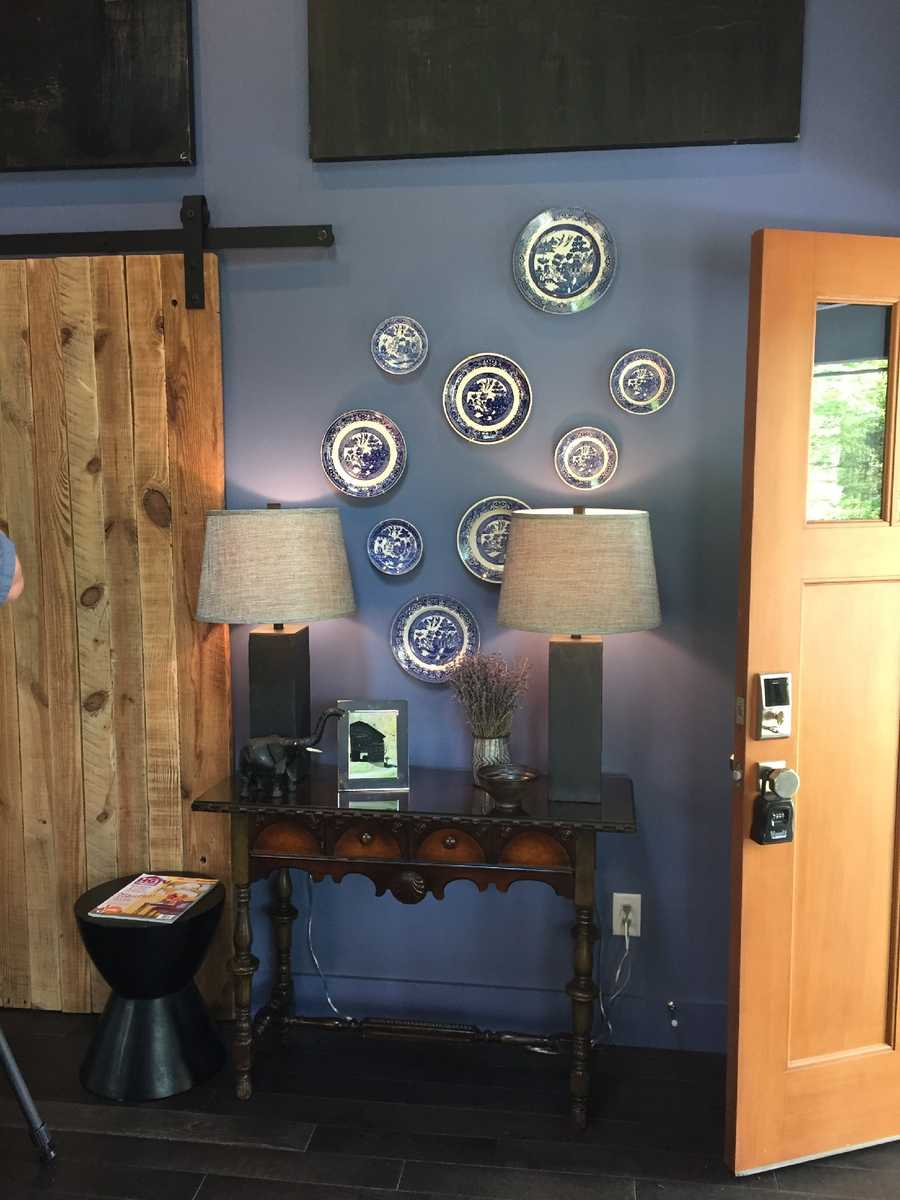 The home has unique touches, including art that is primarily from Asheville artists.