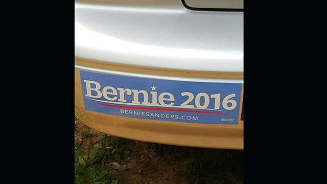 An Upstate woman said a tow truck driver refused to help her because of the Bernie Sanders sticker on her car.