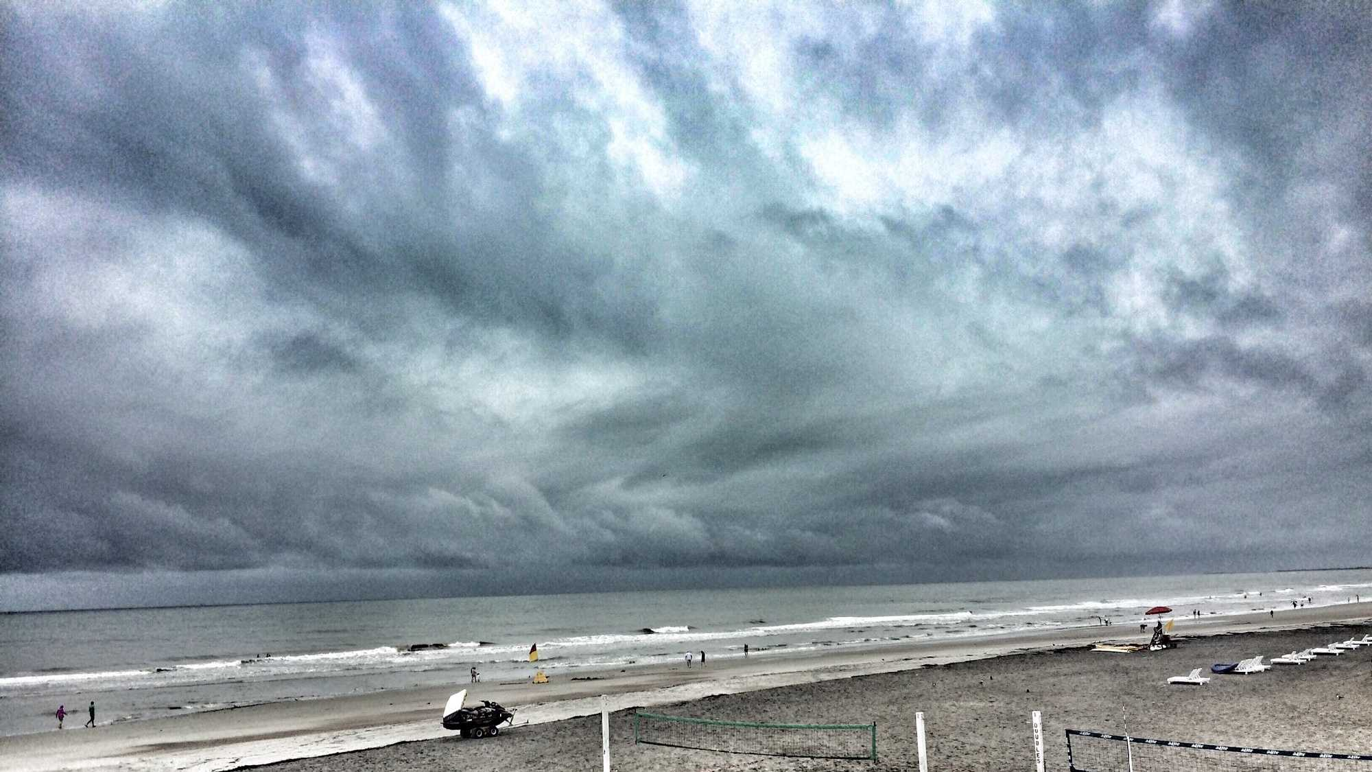 Storm clouds on Folly Beach as Tropical Storm Colin approaches SC
