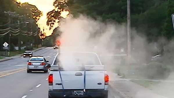 Crews spraying for mosquitoes in Fountain Inn.
