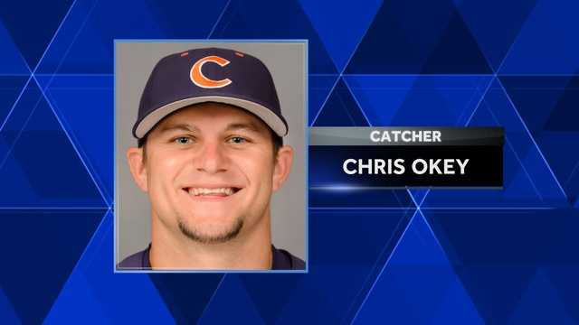 Clemson catcher Chris Okey didn't have to wait long to hear his named called in the 2016 Major League Baseball Draft.