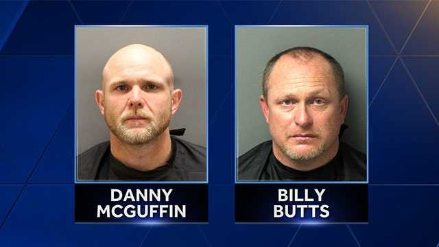 Danny McGuffin and Billy Butts - people of interest in Monday's shooting on Blackjack Road near West Minster