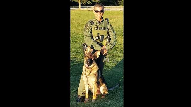 Deputy Brian Picard and K-9 Bono
