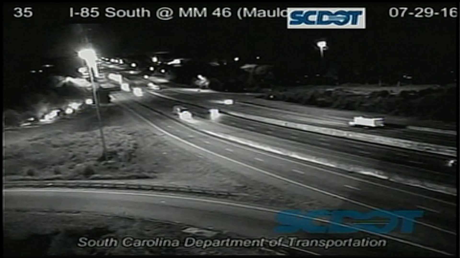 SUV runs off Interstate 85, man taken to hospital, troopers say