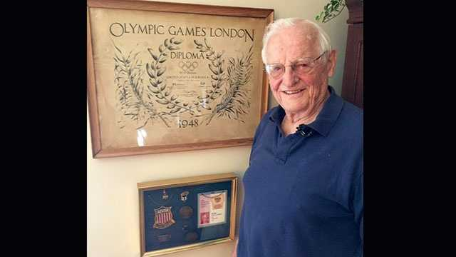 Herb Barten, of Clemson, competed in the 1948 London Olympics running  the 800-meter race in track and field.
