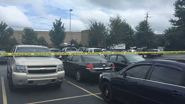 Photo of scene from police staging area