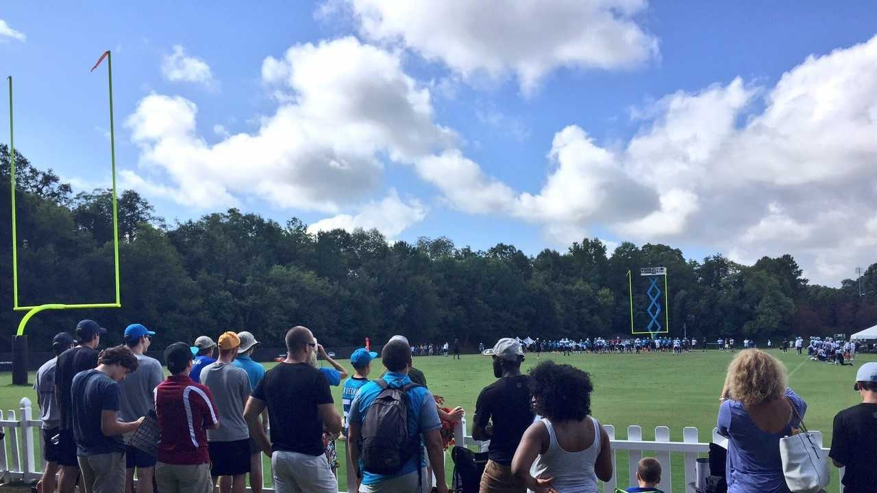 This year's Panthers training camp in Spartanburg attracted 135,371 fans.