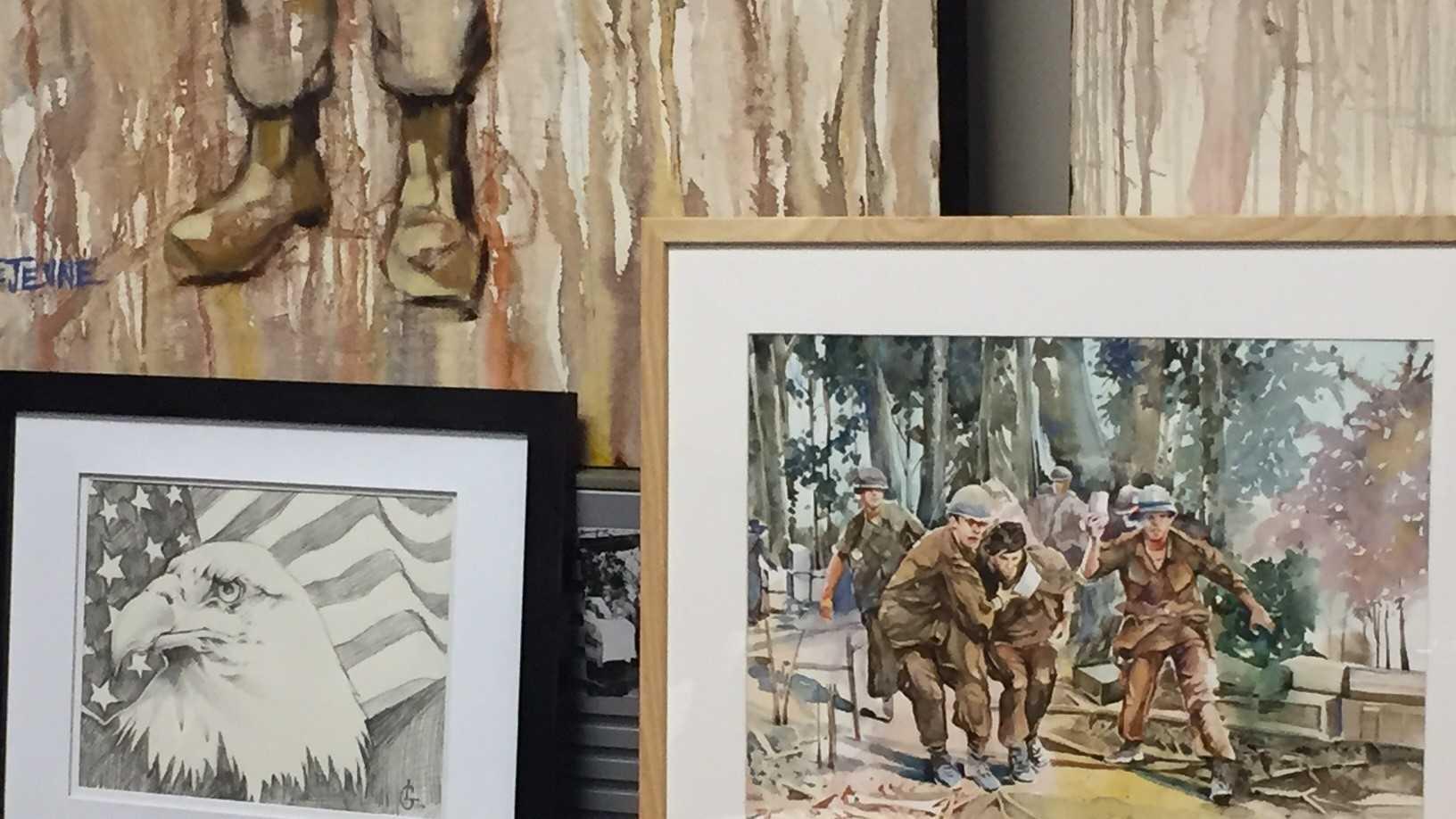 An online art auction will benefit Upstate Warrior Solution.