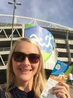 Sandi's sister, Crissy, in Rio.