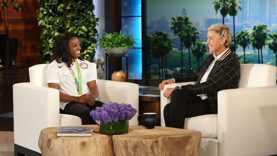 the ellen degeneres show confirmed a four seasons the ellen degeneres show begins season with simone biles