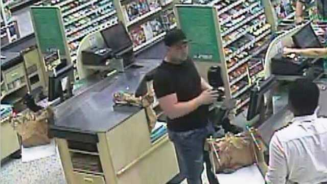 The man used a stolen credit card at the Publix on Clemson Boulevard, deputies said.
