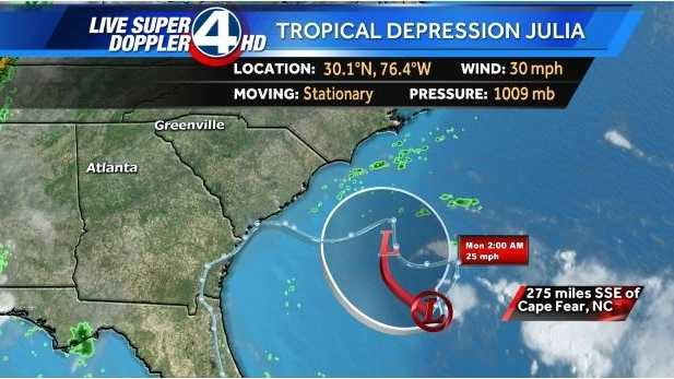 Tropical Depression Julia