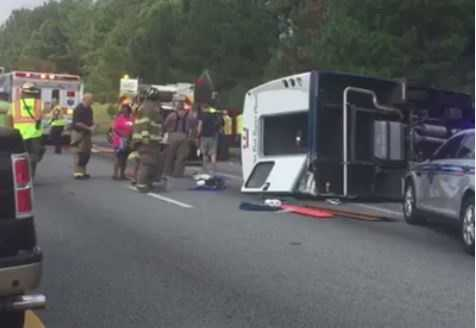 A church bus overturned on Interstate 85 in Anderson County. To read more, click here.