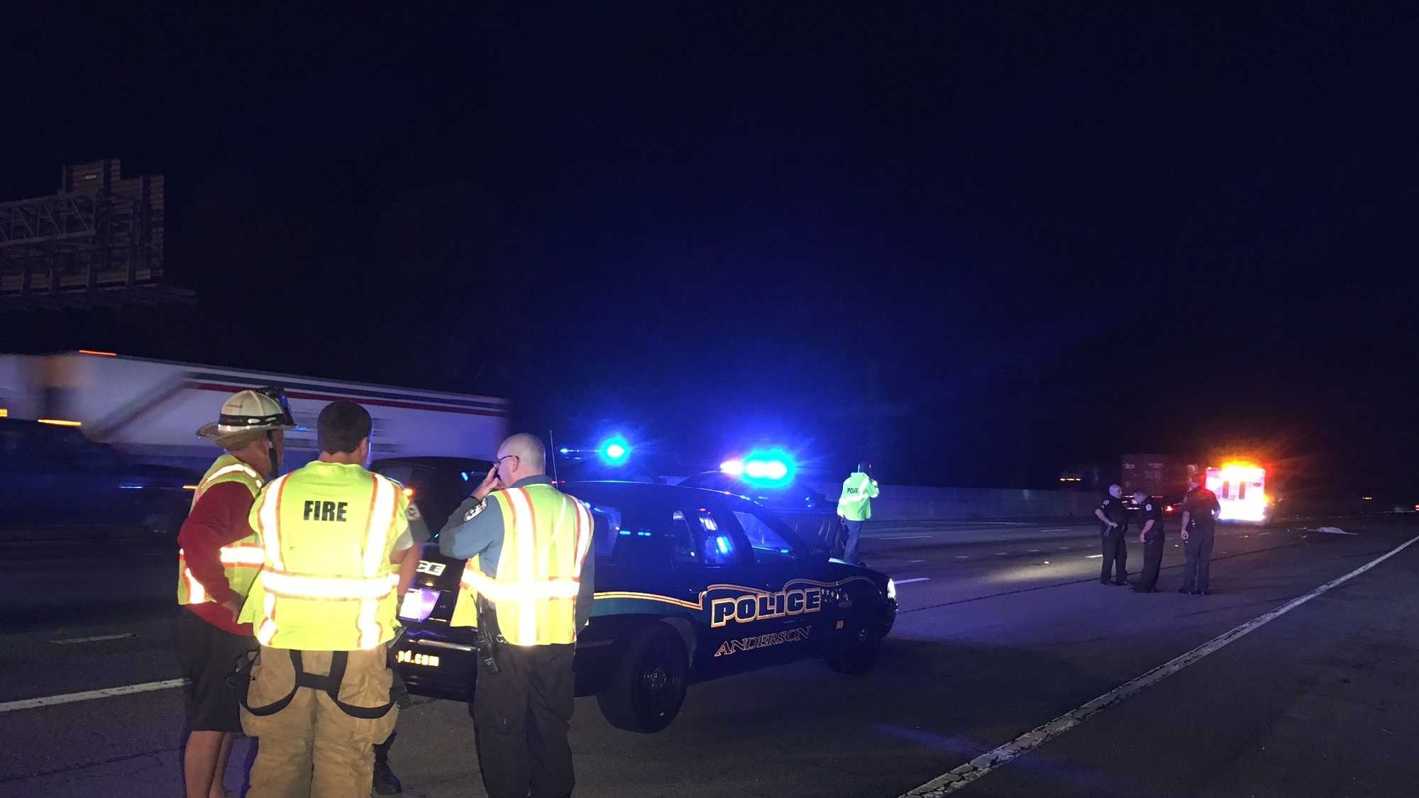 Anderson County deadly wreck on I-85 involving tractor trailer