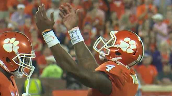 Clemson quarterback Deshaun Watson and linebacker Ben Boulware both won national awards after their performances in the Tigers win over Louisville.