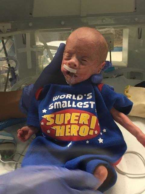 From Becky Hall Reeves 4-week-old superhero!