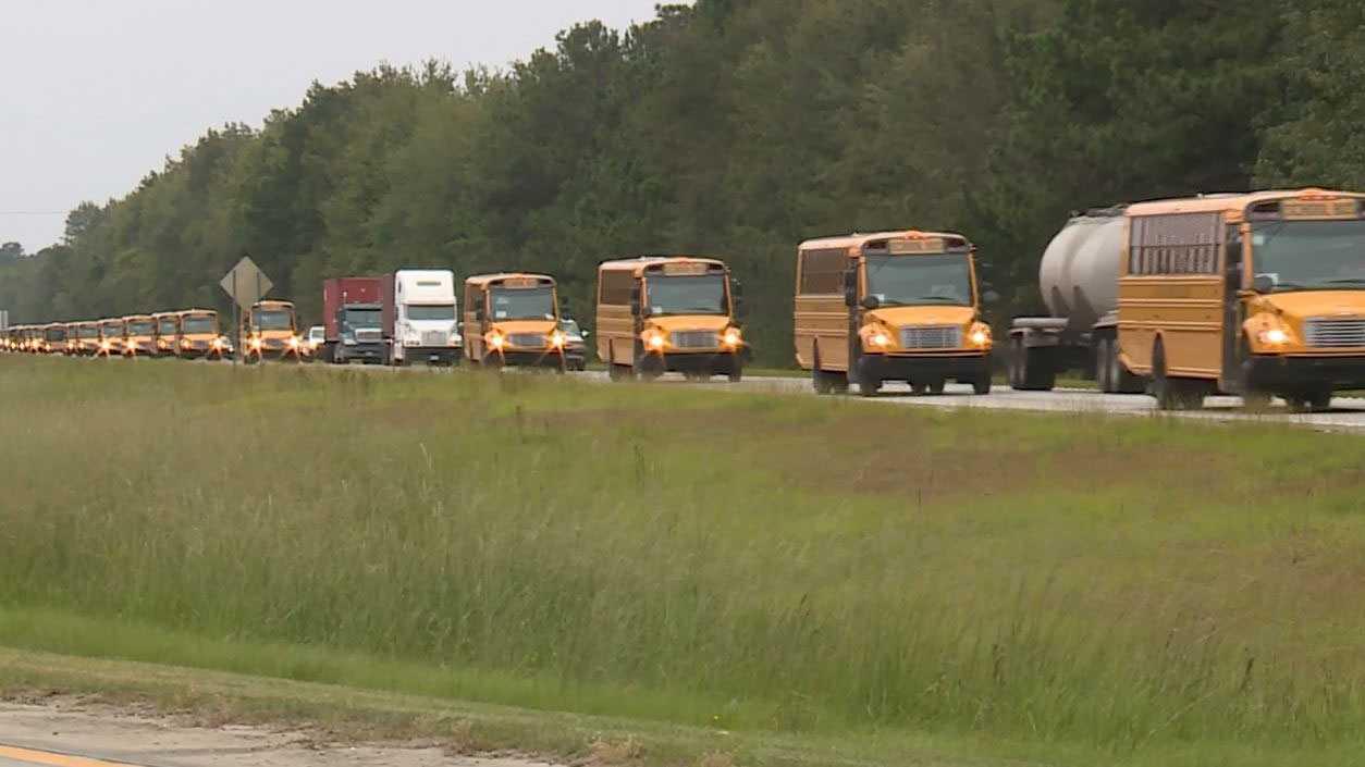 Greenville County School buses help evacuate Hurricane Matthew