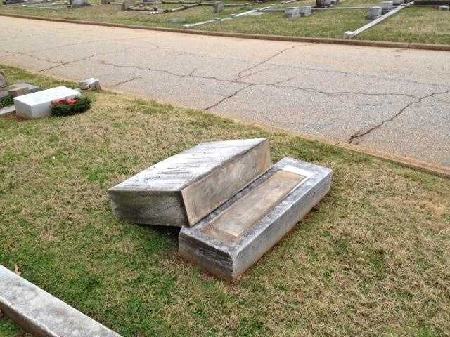 89 tombstones vandalized at Springwood Cemetary