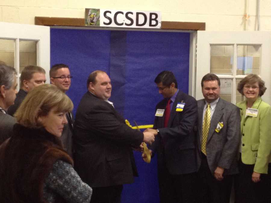 The SC School for the Deaf and the Blind in Spartanburg County held a ribbon cutting for the school's Wal-Mart training center Monday morning.