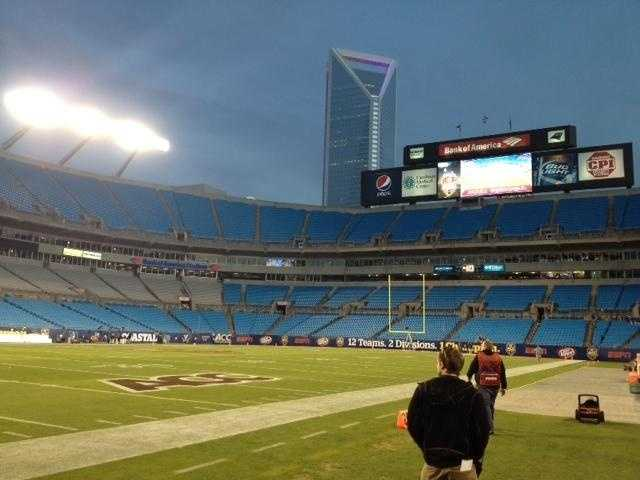 Good evening from Charlotte! Night falls at the ACC Championship.