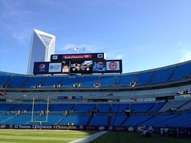 Bank of America Stadium, the sight of the ACC Championship between Clemson and Virginia Tech.