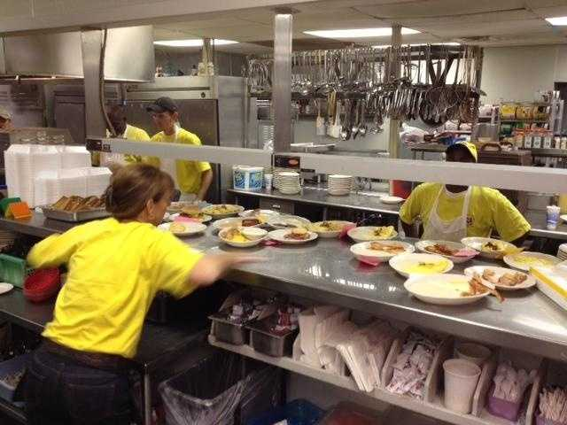 Tommy's Ham House can hold up to 300+ guests inside.  A majority of them will order breakfast.