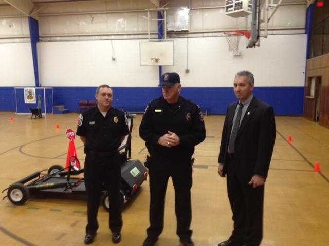 The police department uses SIDNE to teach teens and adults what a difference driving distracted has on their their reflexes behind the wheel.