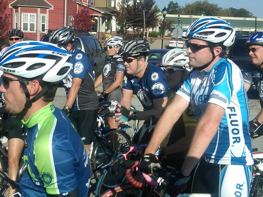 Riders will make their way 30 miles with Hincapie.