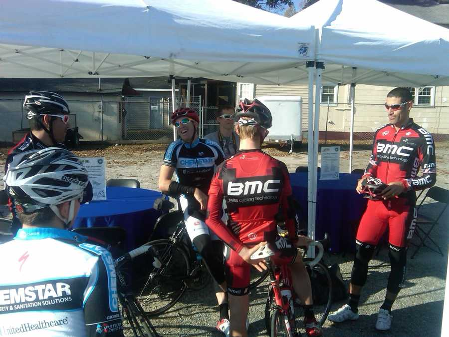 Hincapie will ride with the top 10 fundraisers who raised money for Wheels on Meals in April.