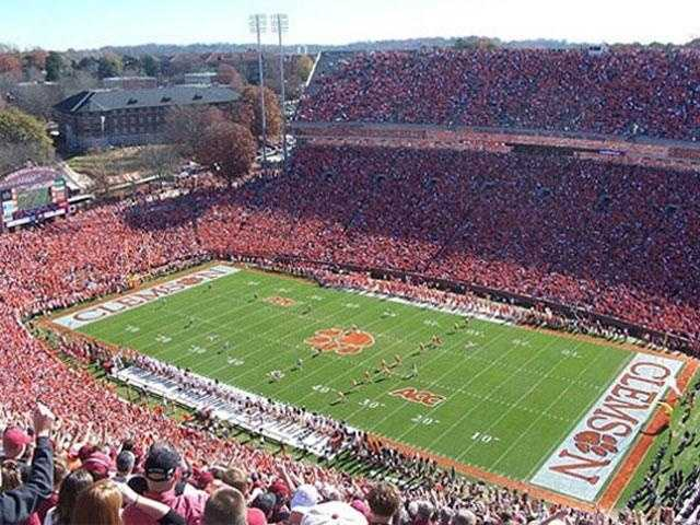 See the run down the hill in Memorial Stadium for a Clemson home game (Mandy Gaither and Karen E. Garner)