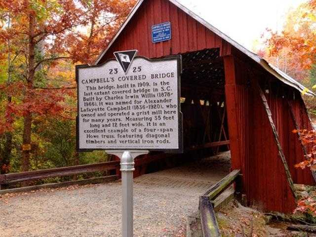 Visit Campbell's Covered Bridge, Greer (Gina Arrowhead Heaton)
