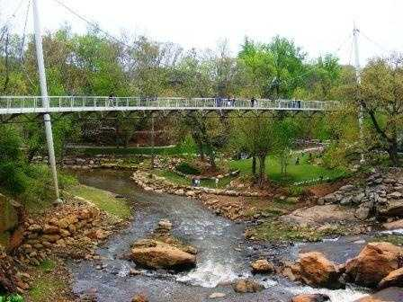 See Falls Park on the Reedy (Sandi Jenkins). (Mike Yearout said he wants to bungee jump off Liberty Bridge.)