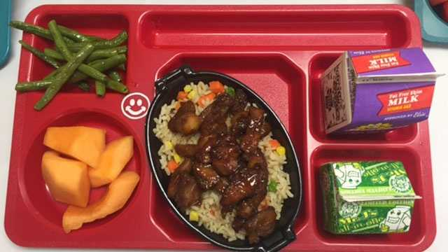 There are now some new menu options for students in Palm Beach County.