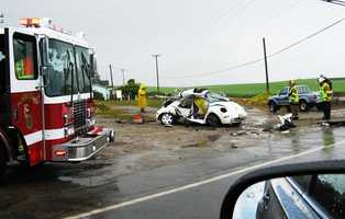 A 16-year-old girl died after crashing her Volkswagen Beetle between La Selva Beach and Watsonville on Friday, April 13, 2012.Cynthia Madrigal was driving her small white Volkswagen down San Andreas Road at 1:22 p.m. when it spun out of control into on-coming traffic. Her Volkswagen was broadsided by a truck at 570 San Andreas Rd., the CHP said.Madrigal was a student at Renaissance High School, an alternative school located on the same road where she died. She had just left school when the crash happened.Read the article by clicking here.