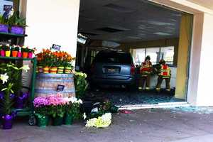 A car crashed into a Pacific Grove building and burst through a store next to Trader Joe's on April 3, 2012. The car shattered the building's front glass doors on Forest Avenue and landed inside a former Blockbuster video rental store. Trader Joe's employees and shoppers said once they got over the shock of seeing a car smash through a building, the specialty grocery store went back to operating as usual.