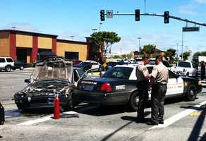 On June 22, five people were injured when a high-speed chase through Salinas ended in a crash. A driver fled from Monterey County Sheriff's deputies at high speeds down Highway 101. Deputies chased after the car because it was stolen out of Prunedale.The driver exited Highway 101 on North Main Street and caused two vehicles to collide in the middle of a four-way intersection on North Main Street at East Bernal Drive. Among those injured was a pregnant woman and a baby.