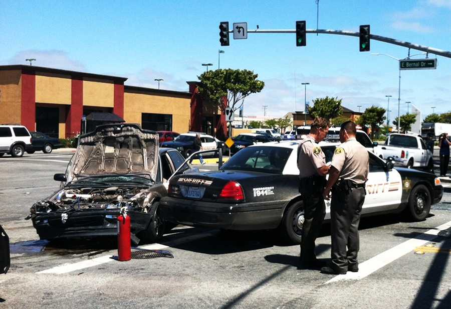 On June 22, five people were injured when a high-speed chase through Salinas ended in a crash.A driver fled from Monterey County Sheriff's deputies at high speeds down Highway 101. Deputies chased after the car because it was stolen out of Prunedale.The driver exited Highway 101 on North Main Street and caused two vehicles to collide in the middle of a four-way intersection on North Main Street at East Bernal Drive.Among those injured was a pregnant woman and a baby.