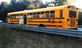 No students were on the bus at the time of the crash.