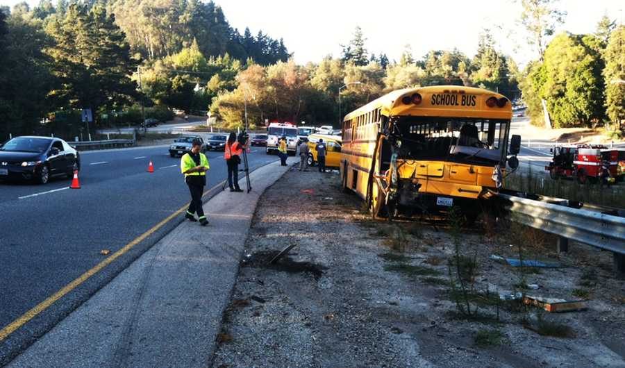 On Oct. 1, 2012,Monte Vista Christian School bus collided with a van on Highway 17 in Scotts Valley during rush hour.Officials said the van driver suffered life-threatening injuries and the bus driver escaped with moderate injuries.