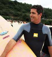 Peter Mel was one of 10 surfers from Santa Cruz in the Mavericks lineup Sunday.