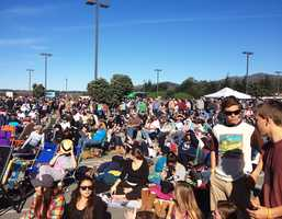 Thousands of spectators flocked to a festival outside the Oceano Hotel & Spa in Half Moon Bay to watch 24 of the world's most elite big-wave surfers compete.Surfing fans basked in January sunshine and tickets sold-out at 9 a.m. when the crowd reached 12,000.