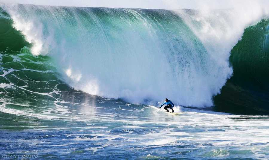 Here are some of the best images of the 2012-2013 Mavericks Invitational big-wave surf contest in Half Moon Bay, including this incredible shot by photographer Tony Canadas. Surfer Greg Long is seen catching a monster Mavericks wave here.