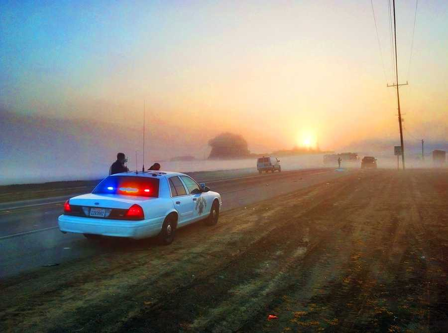 Highway 129 was shut down outside Watsonville for several hours after a pedestrian was hit by a truck and killed at 6 a.m. on Feb. 4.A black pickup truck hit a man who was walking along Highway 129 east of Carlton Road. The man died at the accident scene, and the pickup truck driver stopped.