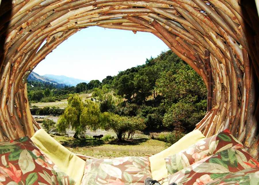 Residents pay tens of thousands dollar to have a spirit nest constructed at their homes. Companies, hospitals and organizations also commission Fann to build works of art that people can live in.