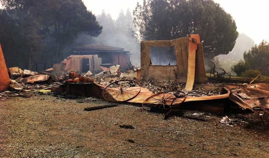 This was all that was left of Big Sur Fire Chief Martha Karstens' house on Pfeiffer Ridge Road.