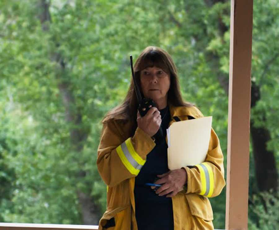 Big Sur Fire Chief Martha Karsten still lead her crew fighting the Pfeiffer Fire.