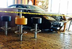 A car drove through a McDonald's restaurant in Salinas on June 1, 2014.