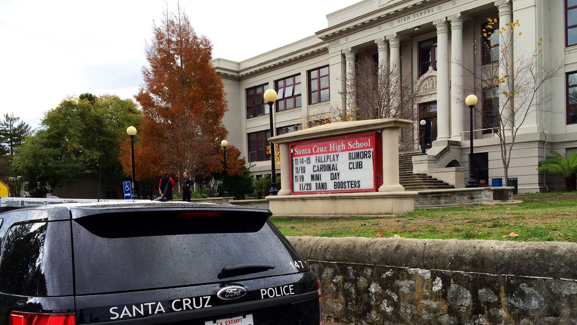 There were no students at Santa Cruz High School Wednesday.